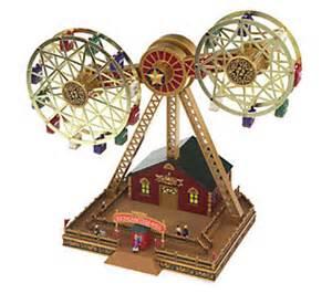 mr christmas nottingham double ferris wheel qvc com