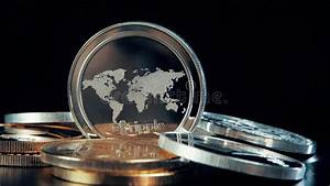 Crypto Coin Values Chart Ripple Coin Macro Shot Cryptocurrency Business And