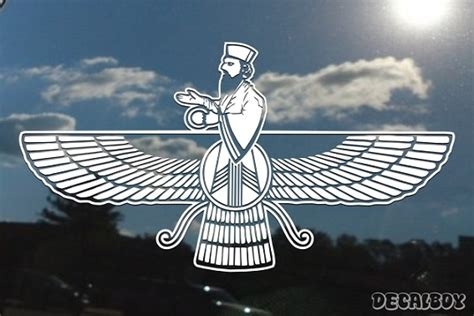 faravahar zoroastrianism decals stickers decalboy