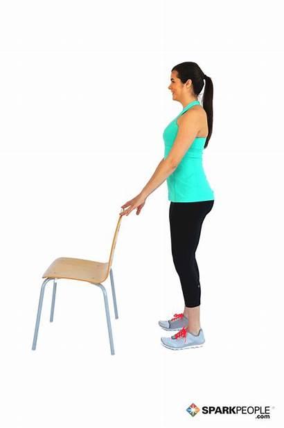 Calf Raises Workout Chair Exercise Exercises Raise