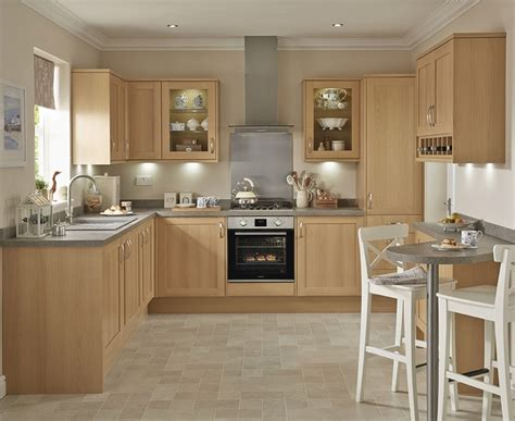 light oak kitchens greenwich shaker light oak kitchen worktops and doors 3756