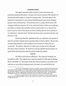 fleet v bank of america case from california court of appeal With how to write an appeal letter for loan modification