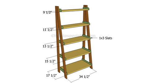 Ladder Bookcase Plans by Ladder Shelves Plans Howtospecialist How To Build