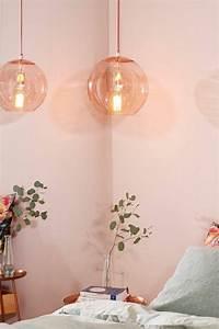 Table De Chevet Verre : 1001 id es pour une lampe de chevet suspendue dans la chambre coucher ~ Teatrodelosmanantiales.com Idées de Décoration