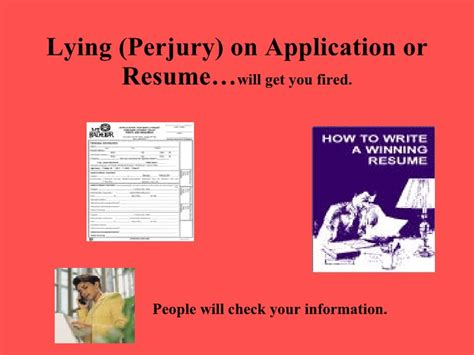 lying on your resume work experience island temps