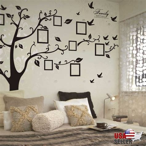 wall decor adhesive family tree wall decal sticker large vinyl photo picture
