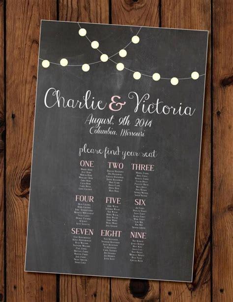 chalkboard wedding seating chart printable  weddbook