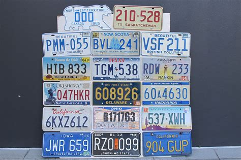 sold number plates  assorted american canadian license number plates auctions lot ac