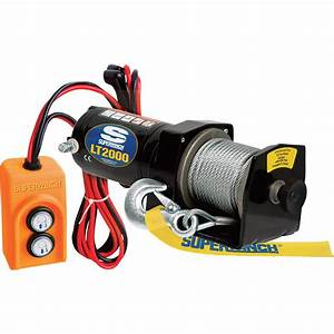 Superwinch 12 Volt Dc Powererd Electirc Utility Winch  U2014 2000