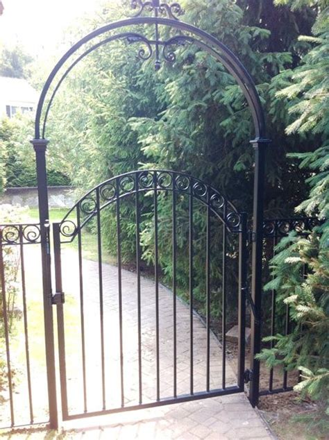 wrought iron arbor with gate wrought iron walk gate and arbor wrought iron 1966