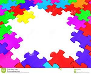 Autism Puzzle Piece Border Frame