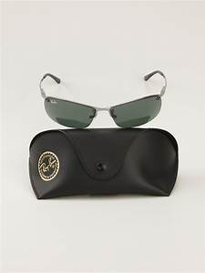 ban oval shape sunglasses in black for lyst