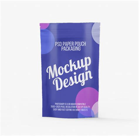 The best free mockups on the internet. Zip pouch packaging mockup | Premium PSD File