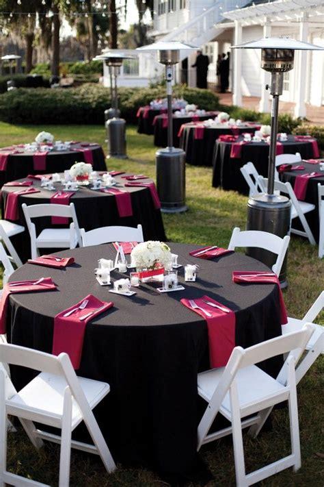 powerful red  black wedding decor ideas