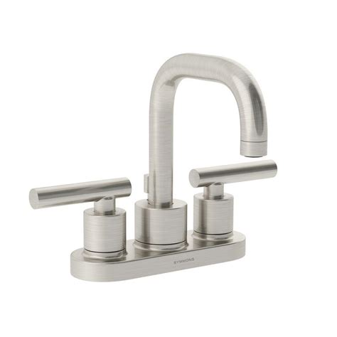 symmons faucets home depot symmons dia 4 in centerset 2 handle mid arc bathroom