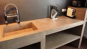 mobilier sur mesure design en beton cire decoratif With enduit decoratif salle de bain