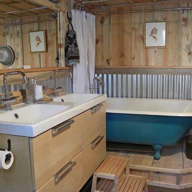 corregated tin roofing as kitchen backsplash   more