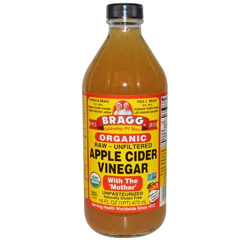 Bragg, Organic Apple Cider Vinegar with The 'Mother', Raw ...