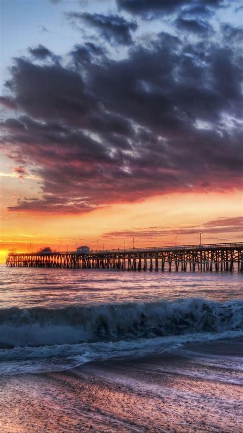 california beach dock sunset iphone   hd wallpaper hd