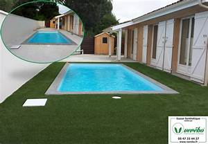 nivremcom pose dune terrasse en bois sur gazon With dalle beton autour piscine