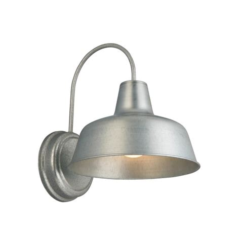 design house mason 1 light galvanized outdoor wall sconce