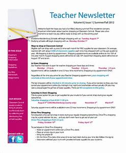 sample teacher newsletter template 6 free documents With free online newsletter templates pdf