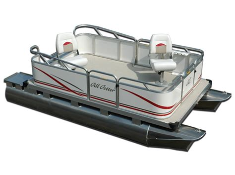 Gillgetter Pontoon Boats by Research Gillgetter Pontoons 513 Tiller Pontoon Boat On