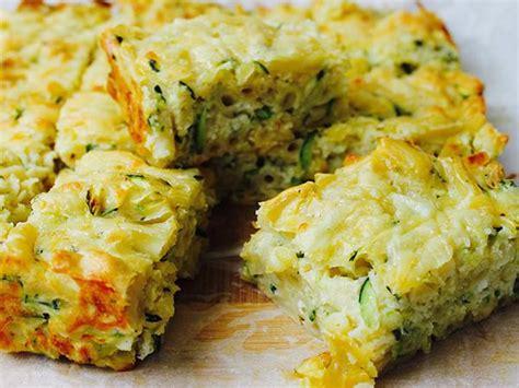 mac  cheese zucchini slice recipe  recipes