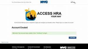Access Hra Create Account
