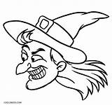 Witch Coloring Pages Halloween Face Printable Hat Easy Cartoon Drawing Witches Cool2bkids Cat Getdrawings Getcolorings Clipartmag Owl Cheshire sketch template