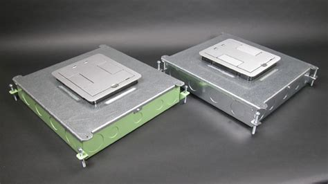 legrand floor boxes rfb4 two compartment single or multi service recessed floor