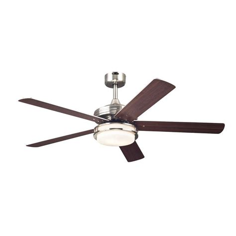 westinghouse castle 52 in brushed nickel ceiling fan