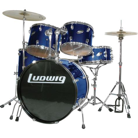 ludwig accent combo  piece drum set blue musicians friend