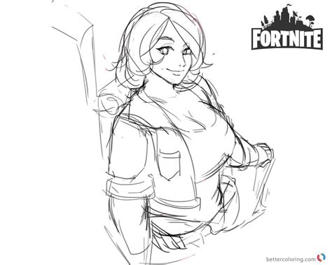 Fortnite Coloring Pages Brienne Fanart