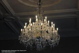 Czech crystal chandelier at government house wellington