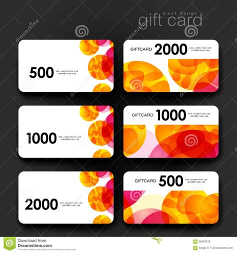 gift coupon discount card template  abstract