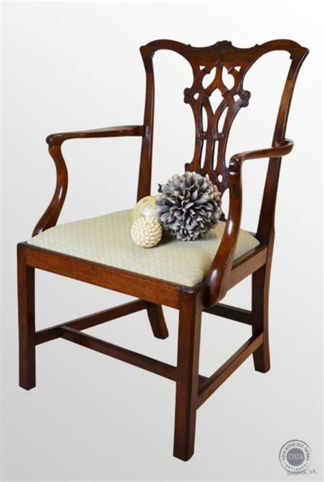 antique armchair chair chippendale period