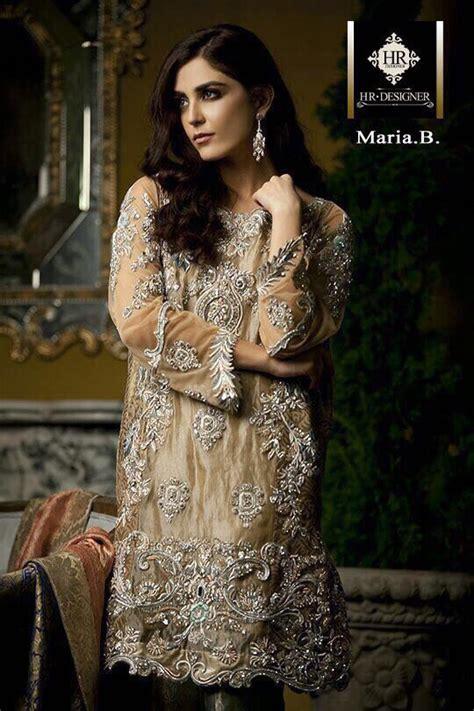 maria  chiffon bridal dress  pakistani dresses