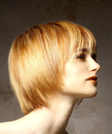 Light Hairstyles by Casual Bob Hairstyle With Layered Bangs