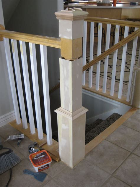 Banister Handrail by Remodelaholic Stair Banister Renovation Using Existing