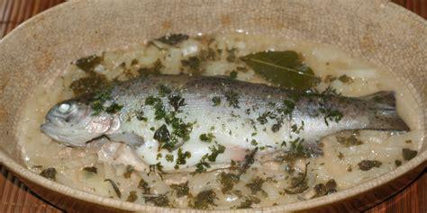 cuisiner une truite au four truite aux herbes au four amafacon