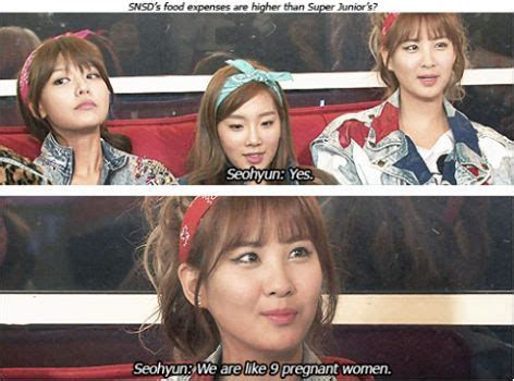 Snsd Funny Memes - q are snsd s food expenses higher than super junior omg sooyoung s face she looks so guilty
