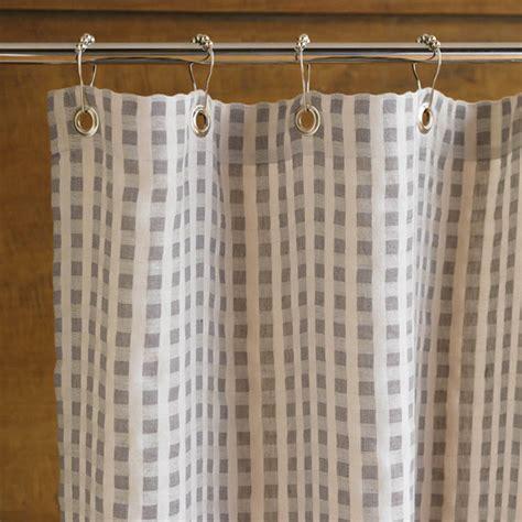 coyuchi linen and organic cotton tahoe shower curtain
