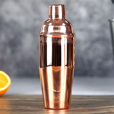 ml stainless steel copper plated cocktail shaker