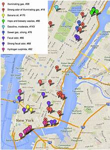 Fun Maps  What Manhattan Sewers Smelled Like In 1910