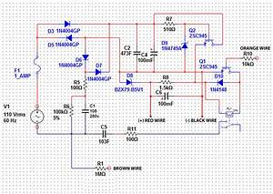 Stabilized Transformerless Power Supply Circuit With Relay