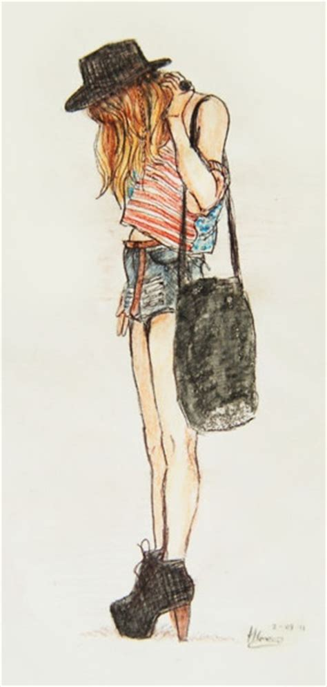 Fashion girl drawing | Art. | Pinterest | Girls Girl drawings and I love