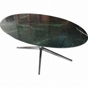 Table Marbre Ovale : table ovale en marbre vert florence knoll 1980 design market ~ Teatrodelosmanantiales.com Idées de Décoration