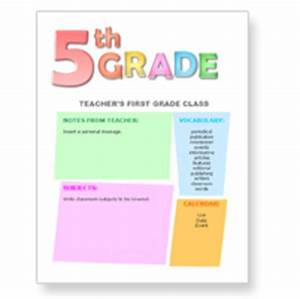 Free newsletter templates for teachers from worddrawcom for 5th grade newsletter template
