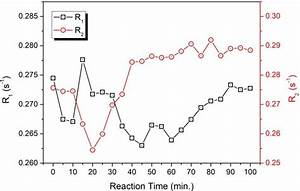 Relaxation Rates Of The Blank As Function Of Reaction Time